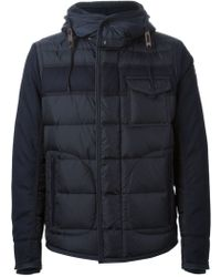 Moncler Contrast Padded Coat - Lyst