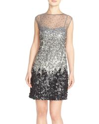 Adrianna Papell | Embellished A-line Dress | Lyst