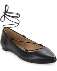424 Fifth - Charisma Leather Flats - Lyst