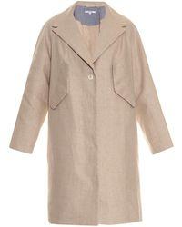 Carven Oversized Linen Coat - Lyst