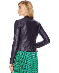 Michael Kors Michael Quilted Leather Jacket - Lyst