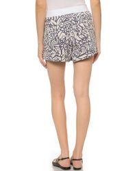 Maiyet - Cuffed Mini Shorts - Blue Multi - Lyst