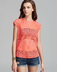 Twelfth Street by Cynthia Vincent Tshirt Button Back - Lyst