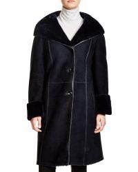 Maximilian | Hooded Shearling Coat | Lyst