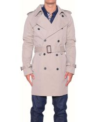 Aquascutum Doublebreasted Nylon Trench - Lyst