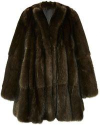 J. Mendel Mink Notch Collar Coat - Lyst