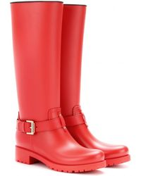 Mulberry Biker Rubber Wellington Boots - Lyst