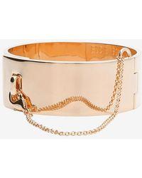 Eddie Borgo Safety Chain Cuff Bracelet Rosegold - Lyst