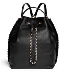 Tory Burch 'Marion' Leather Bucket Backpack - Lyst