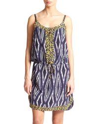 ViX Moorish Silk Slip Dress - Lyst