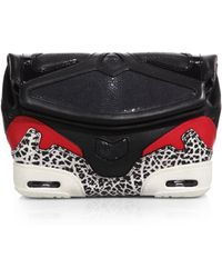 Alexander Wang Sneaker-Style Leather & Stingray Clutch - Lyst