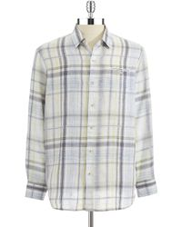 Tommy Bahama Plaid Sport Shirt - Lyst