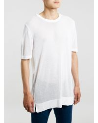 Topman White Sheer Oversized Tshirt - Lyst