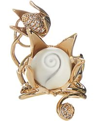 Eddie Borgo - Rose And Bud Gold-plated Ring - Lyst