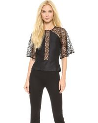 Temperley London Folk Lace Shirt Black - Lyst