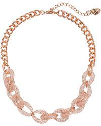 Betsey Johnson Sparkle Link Choker Necklace - Lyst