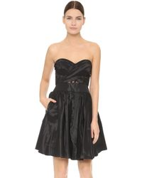 Notte by Marchesa | Strapless Cocktail Dress - Black | Lyst