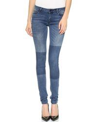Just Female - Used Jeans - Blue Patch - Lyst