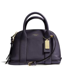 Coach Bleecker Mini Preston Satchel in Pebbled Leather - Lyst