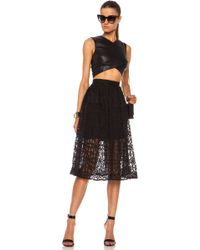 Nicholas Nylon Organza Lace Mid Length Ball Skirt - Lyst