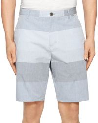 Calvin Klein Horizontal Srtipe Shorts gray - Lyst