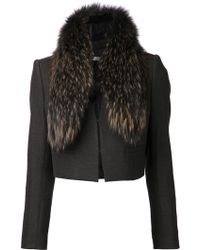 Alice + Olivia Black Fitted Jacket - Lyst