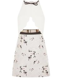 Giambattista Valli Cut Out Floral Sleeveless Dress multicolor - Lyst