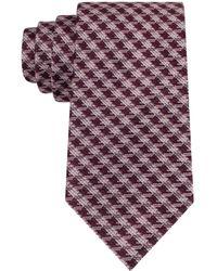 MICHAEL Michael Kors Silk Check Tie - Lyst