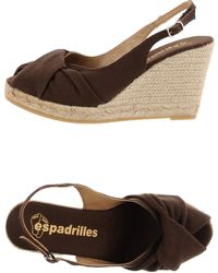 Espadrilles heels wedges wedge sandals - Lyst