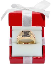 Effy Collection - Men's Brown (1/4 Ct. T.w.) And White Diamond (1/8 Ct. T.w.) Ring In 14k Gold - Lyst