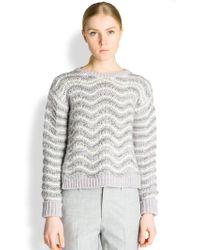 Jil Sander Wavy Stitch Sweater - Lyst