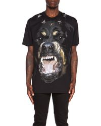 Givenchy Men'S Rottweiler Cotton Tee With Metal Star Detail - Lyst
