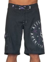 Affliction - Speed Star Swim Board Shorts - Lyst