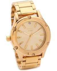 Nixon Camden Watch  Gold - Lyst