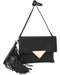 Sara Battaglia | Teresa Clutch Large Black | Lyst