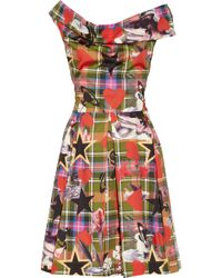 Vivienne Westwood Anglomania Halton Draped Printed Cotton Dress - Lyst