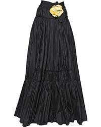 Lanvin Washed Cotton Poplin Skirt - Lyst