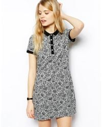 Fred Perry Floral Polo Dress - Lyst
