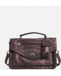 Coach Rhyder Messenger in Metallic Leather - Lyst