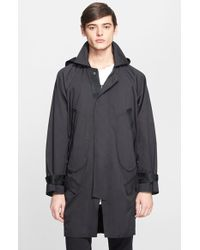 Alexander Wang Men'S Trench Coat With Removable Hood - Lyst