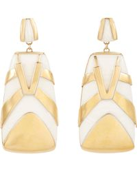 Maiyet - Horn & Brass tiger Stripe Earrings - Lyst