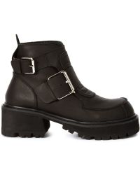 UNIF - Buckle Ankle Boots - Lyst