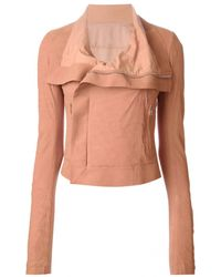 Rick Owens Rose Blistered Leather Jacket - Lyst