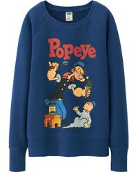Uniqlo Women Popeye Sweat Pullover - Lyst