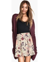 H&M Patterned Sweatshirt Skirt - Lyst