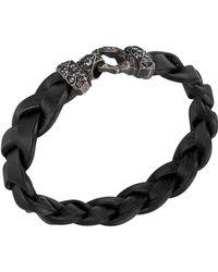 John Hardy Mens Classic Chain Garnet Silver Lava Hook Bracelet - Lyst