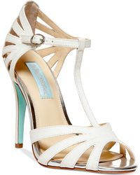 Betsey Johnson Blue By Tee Evening Sandals - Lyst