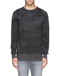 Denham   'jv Storm' Jersey Sweatshirt   Lyst