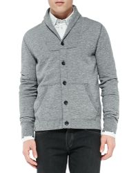 Rag & Bone Shawl Cardigan Sweatshirt - Lyst