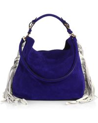 Marni Suede Side-Fringe Hobo Bag - Lyst